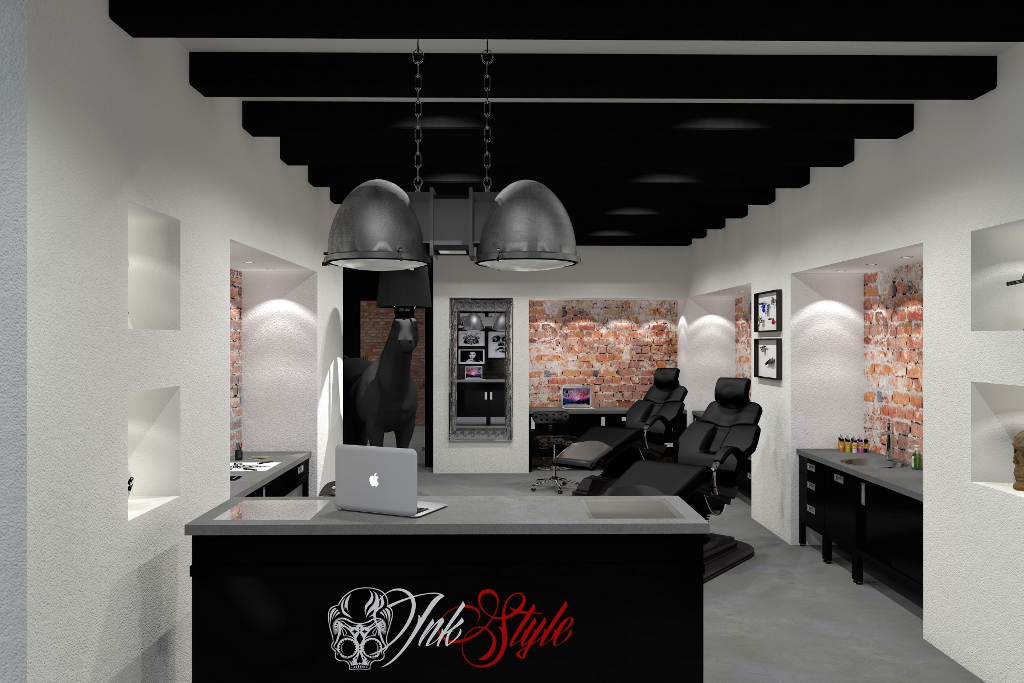 tattoo shop inrichten ink style rh inkbutlers com Advertising Interior Design Ideas Chocolate Shop Design